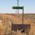 Oak Valley/Maralinga turnoff sign