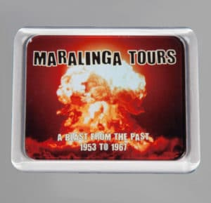 Maralinga Tours Fridge Magnet, front