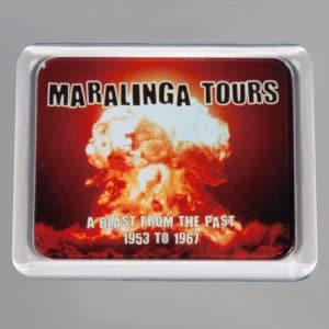 Maralinga Tours Fridge Magnet, front