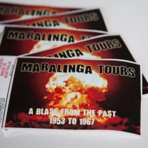 Maralinga Tours Car Sticker, scattered